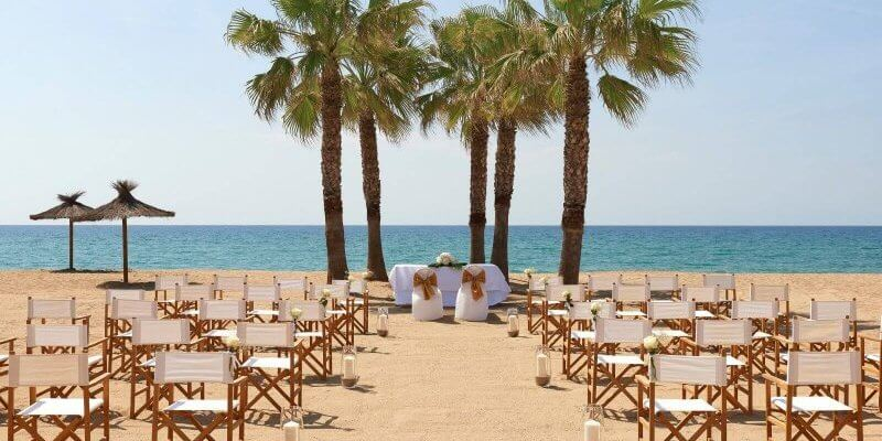 sunny beach weather wedding